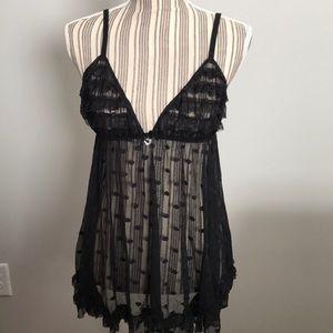 Seductive Wear nightie chemise black size large